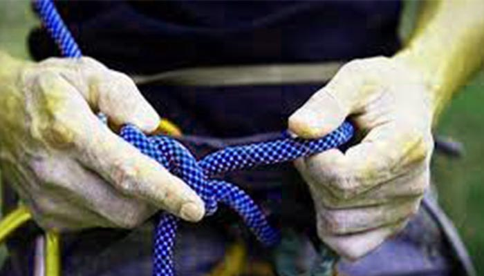 نحوه درست بستن طناب rope access